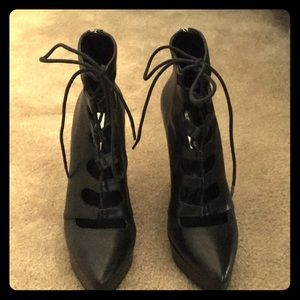 BCBG black wedge heels Size 6